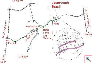 Mapa da Laserbras